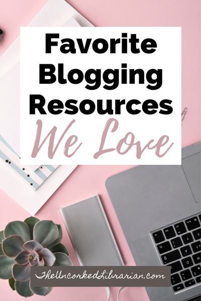 Blogging Resources We Love Pinterest Pin with laptop and green plant
