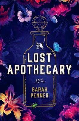 The Lost Apothecary by Sarah Penner purple book cover with bottle