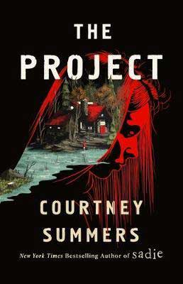 Most-Anticipated new books YA, The Project by Courtney Summers book cover with side of woman's head with a scene of house in it
