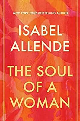 The Soul Of A Woman by Isabel Allende pink, red, and orange swirl book cover