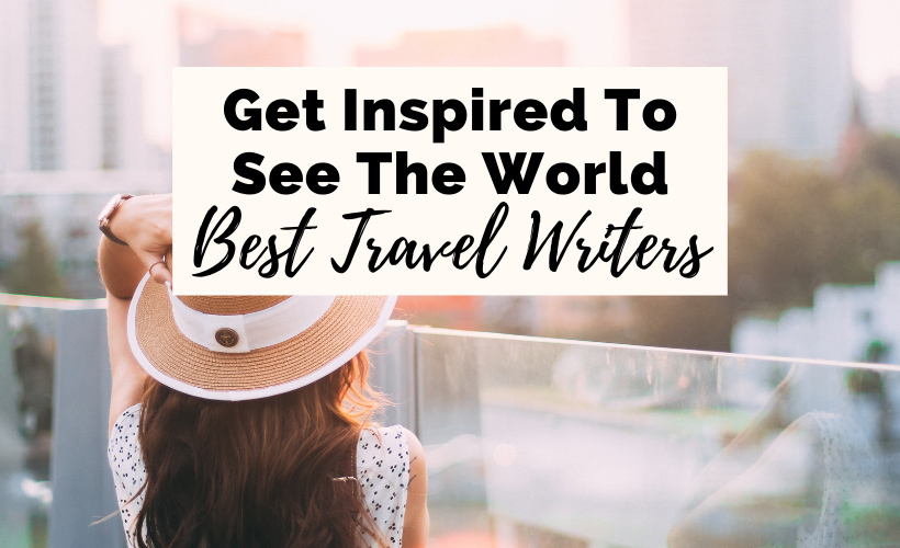 famous travel writers with brunette white woman in pink hat