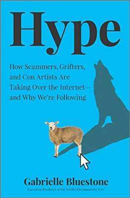Hype by Gabrielle Bluestone blue book cover with sheep