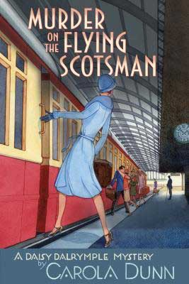 Murder On The Flying Scotsman by Carola Dunn book cover