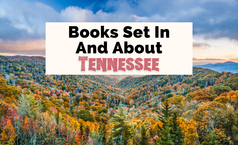 Books Set In Tennessee with Smoky Mountains during the fall, and blue sky with clouds