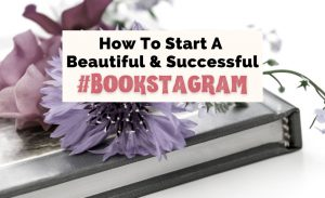 How To Start A Bookstagram Instagram For Books with purple flowers on top of silver book