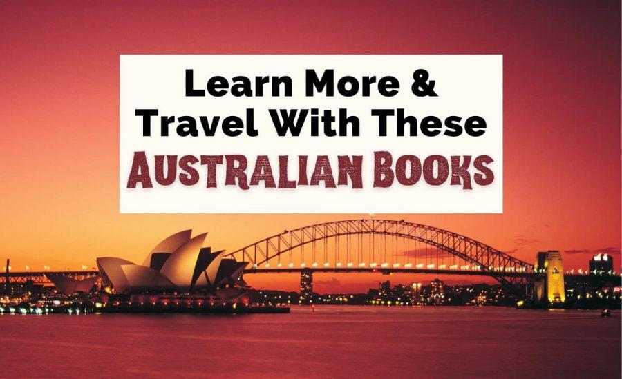 Australian Books and Books Set In Australia with Sydney Harbor at sunset