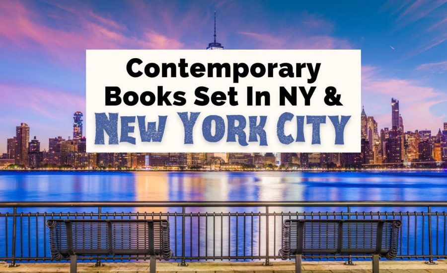 Best New York novels and Books set in New York City with New York Financial District along Hudson at Twilight