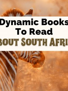 Books About South Africa Reading List with zebra in the tall grass
