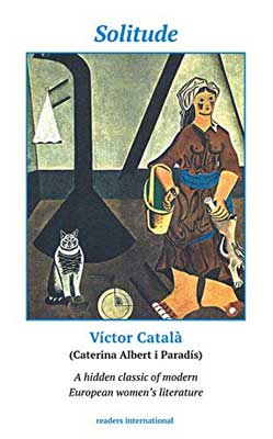 Solitude by Victor Català book cover illustrated with woman and cat