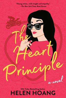 Upcoming August 2021 book releases, The Heart Principle by Helen Hoang book cover with woman with black hair wearing black sunglasses
