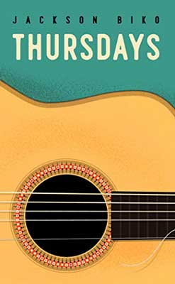Thursdays by Jackson Biko book cover with guitar on green background