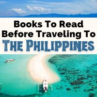 Books About The Philippines and Filipino Books with picture of Palawan Island and blue water and white sand beach