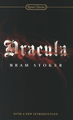 Dracula by Bram Stoker black book cover with red blood