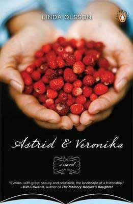 Astrid and Veronika by Linda Olsson book cover with hands holding red fruit