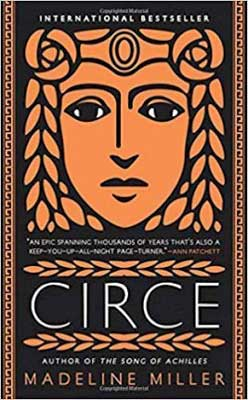 Circe by Madeline Miller book cover with orange face