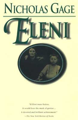 Eleni by Nicholas Gage book cover with picture of woman and boy