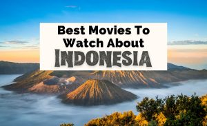 Best Indonesian Movies with photo of Mount Bromo at sunrise with clear sky, water, and volcano craters